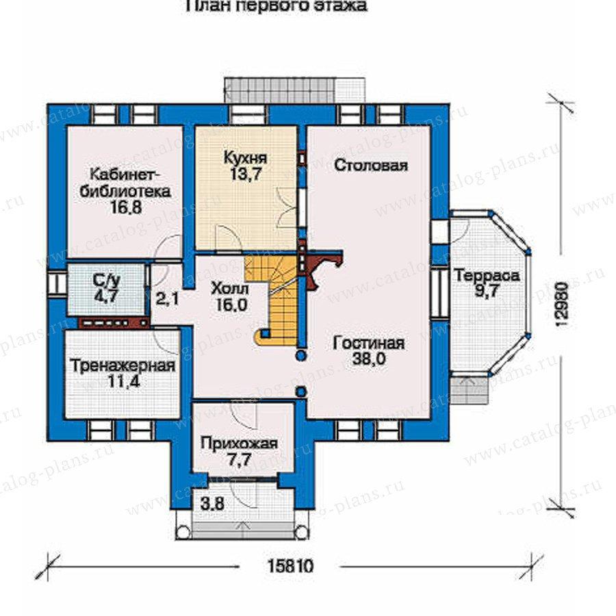 План 2-этажа проекта 32-67