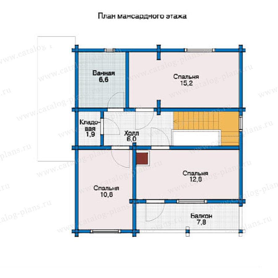 План 2-этажа проекта 12-11