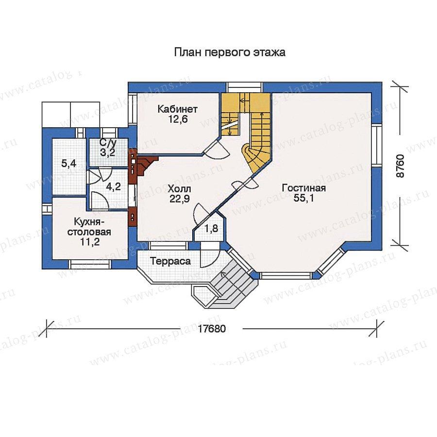 План 2-этажа проекта 32-53