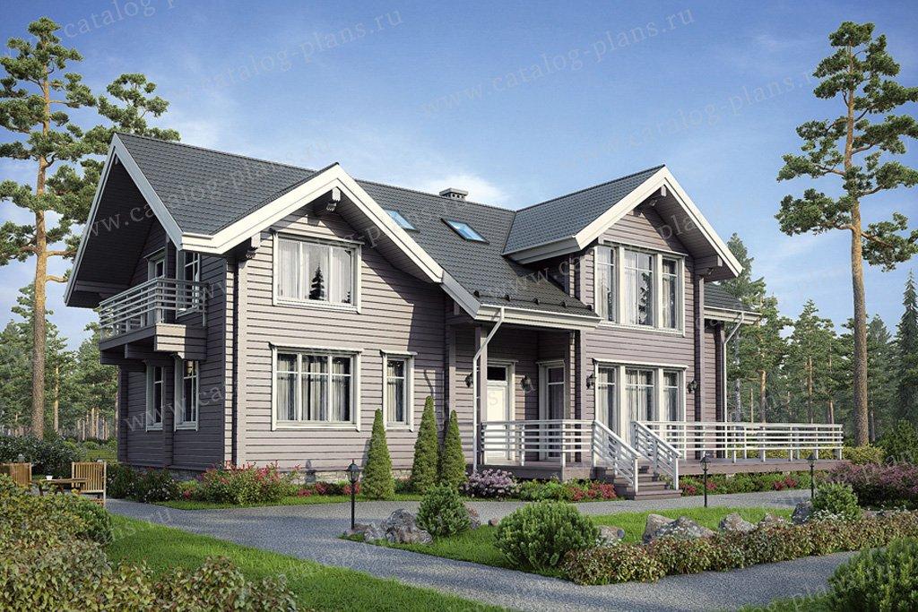 Проект жилой дом #12-48 материал - дерево, стиль скандинавский