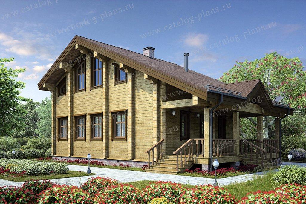 Проект жилой дом #12-33 материал - дерево, стиль скандинавский