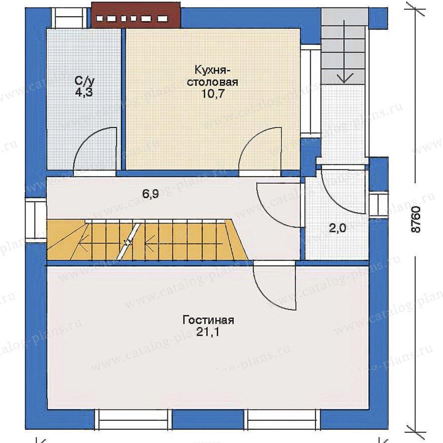 План 2-этажа проекта 32-99