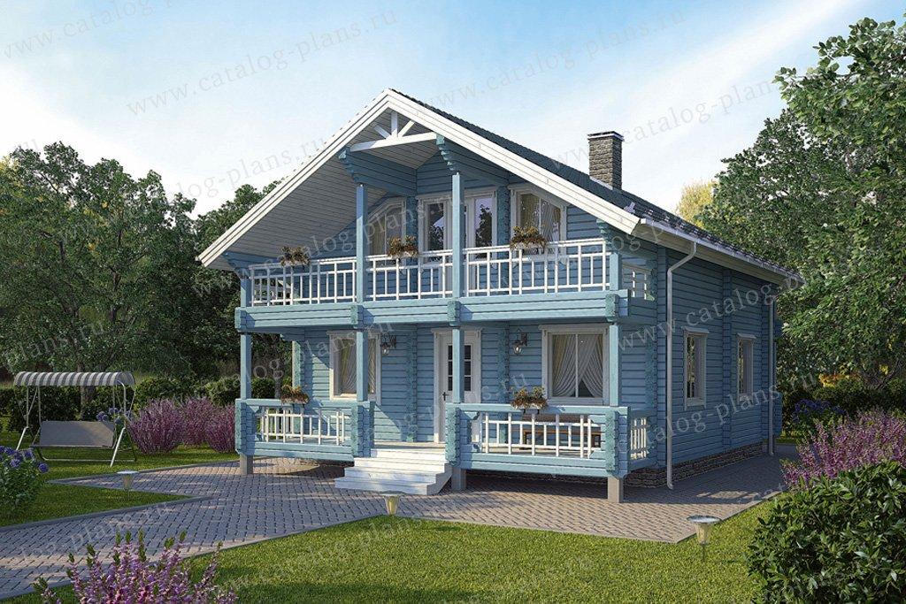 Проект жилой дом #12-13 материал - дерево, стиль скандинавский