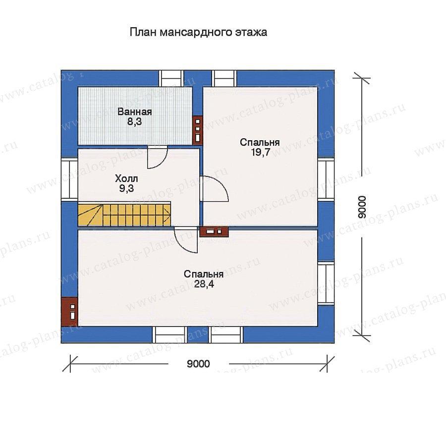 План 2-этажа проекта 32-84