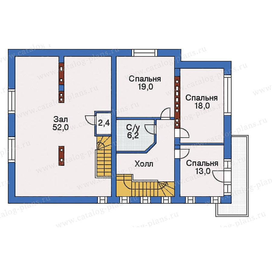 План 3-этажа проекта 32-80