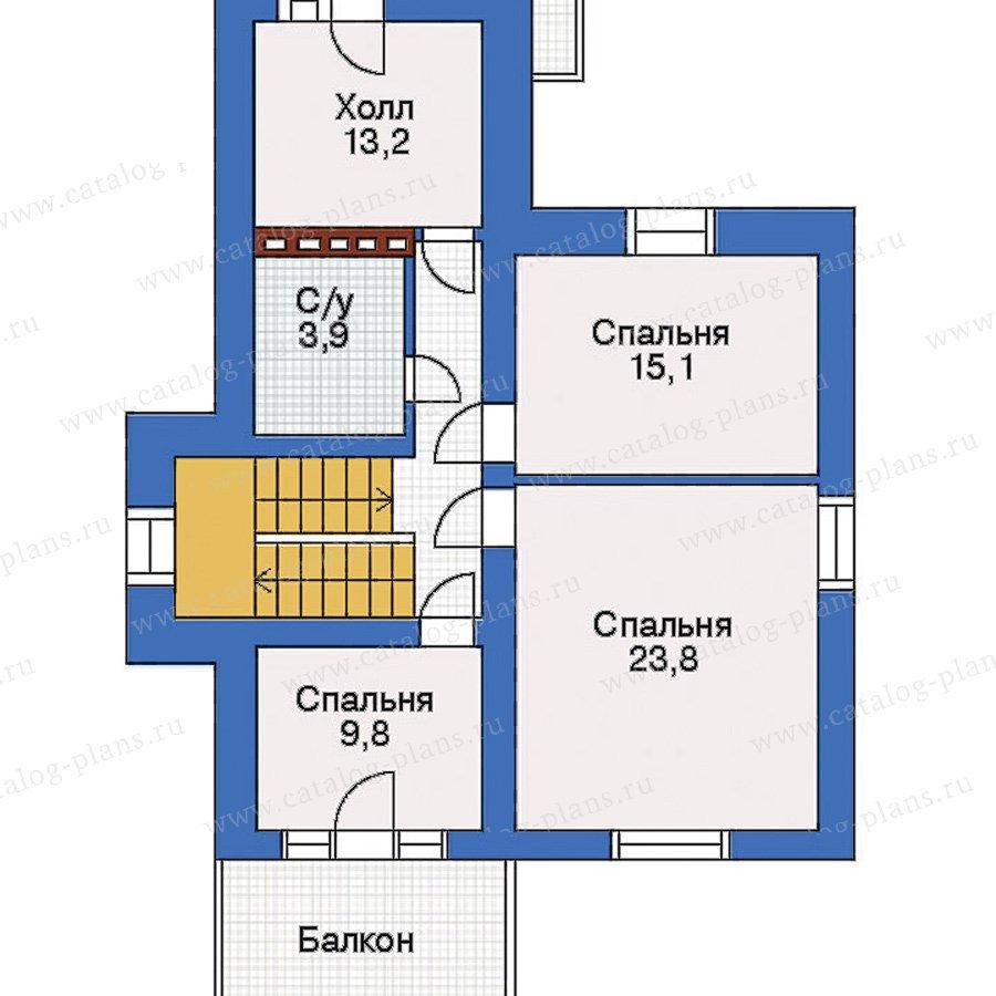 План 3-этажа проекта 32-54
