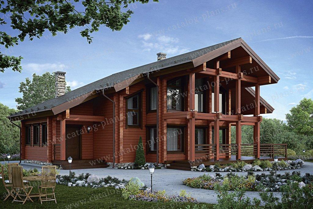 Проект жилой дом #12-45 материал - дерево, стиль современный