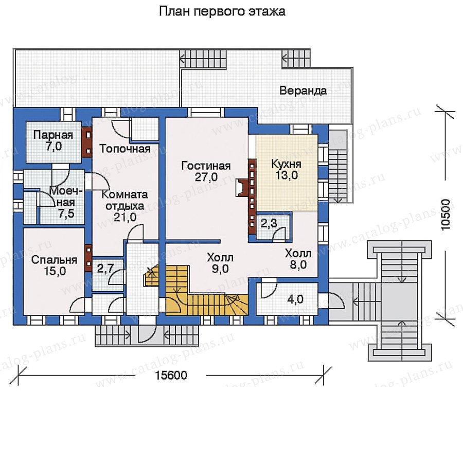 План 2-этажа проекта 32-80