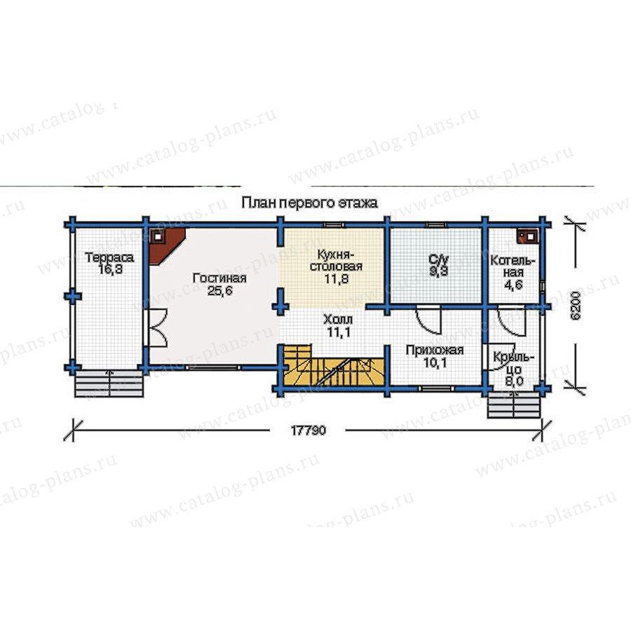 План 2-этажа проекта 12-09