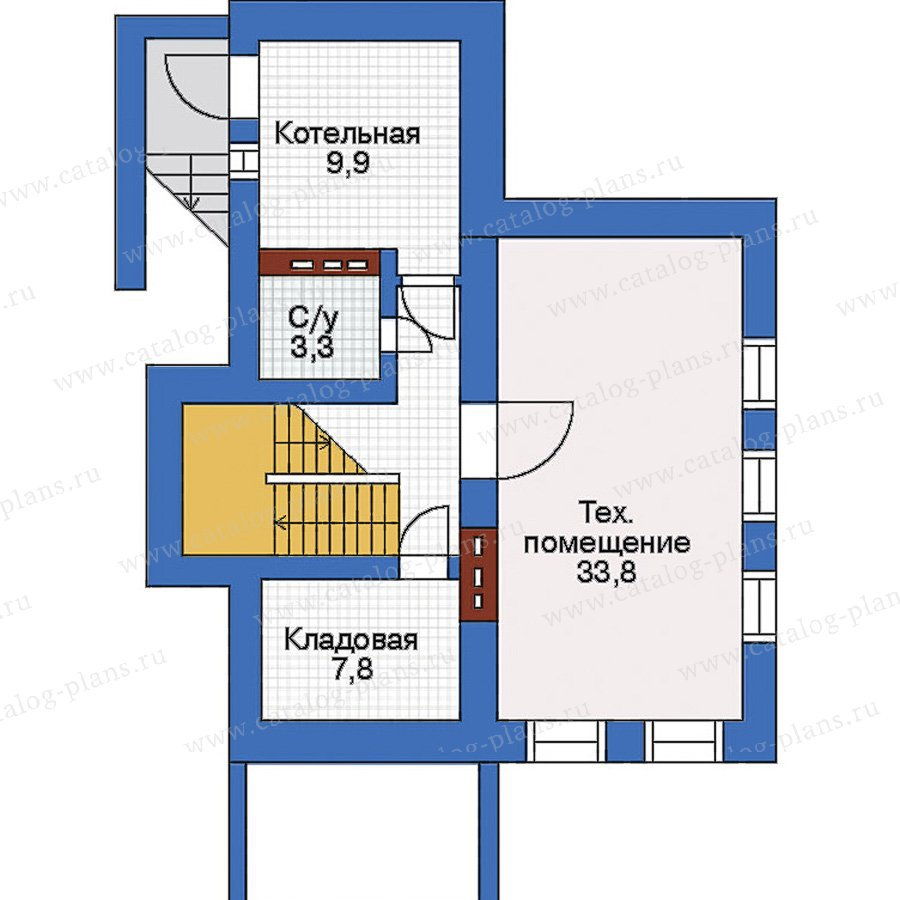 План 1-этажа проекта 32-54
