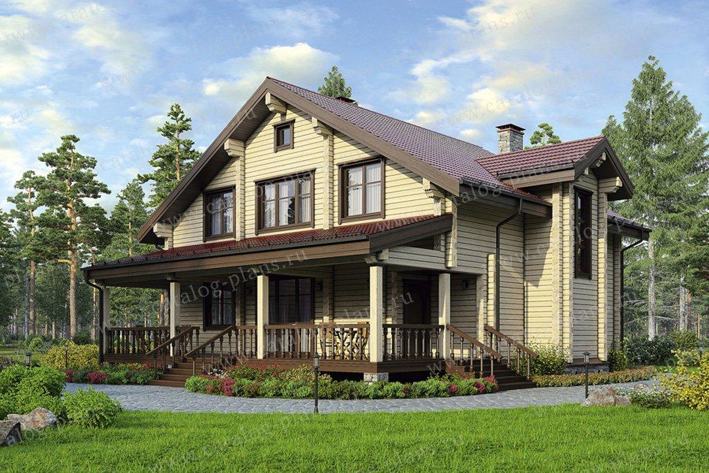 Проект жилой дом #12-24 материал - дерево, стиль скандинавский