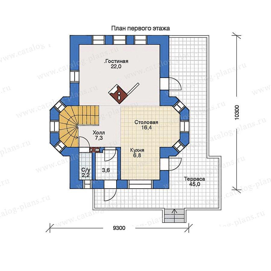 План 1-этажа проекта 32-43
