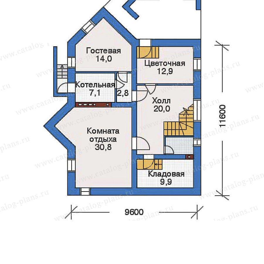 План 1-этажа проекта 32-58