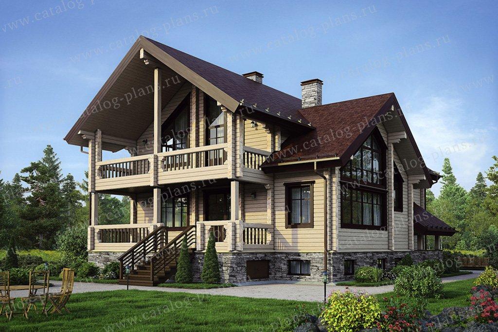 Проект жилой дом #12-59 материал - дерево, стиль скандинавский