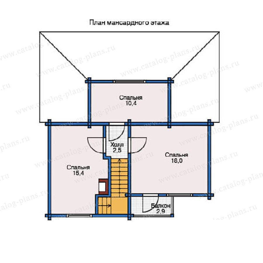 План 2-этажа проекта 12-10