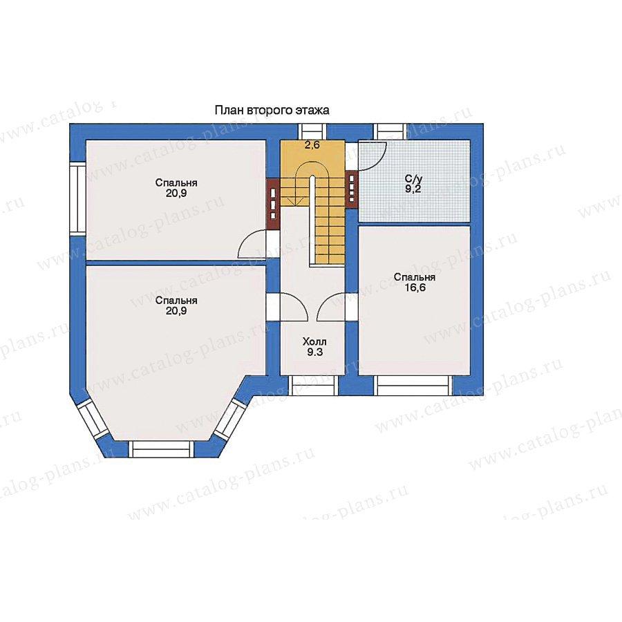 План 2-этажа проекта 32-97