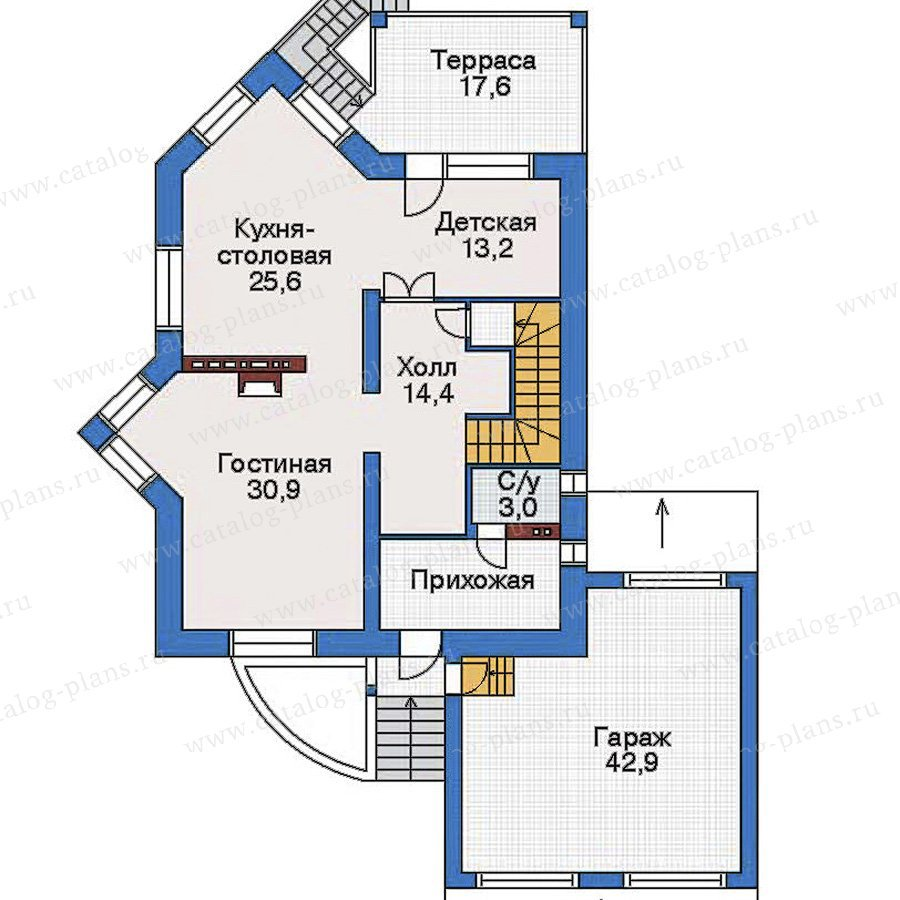 План 2-этажа проекта 32-58