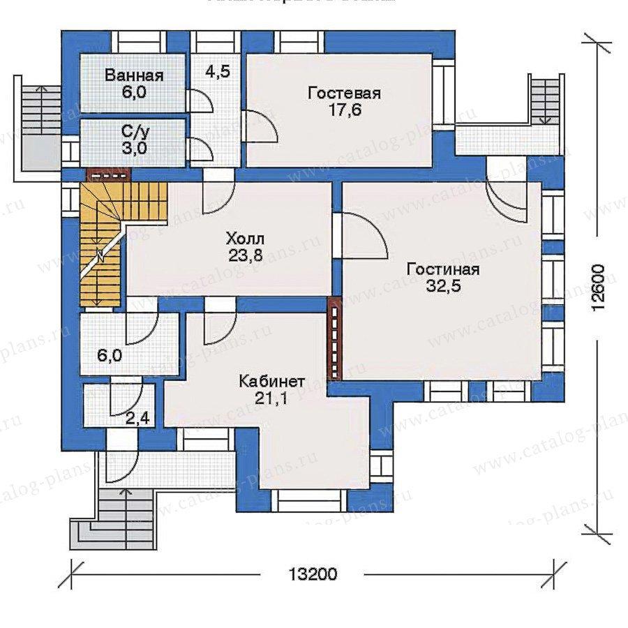 План 2-этажа проекта 32-78