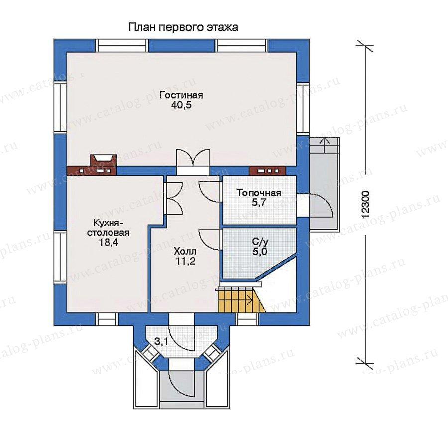 План 1-этажа проекта 32-89