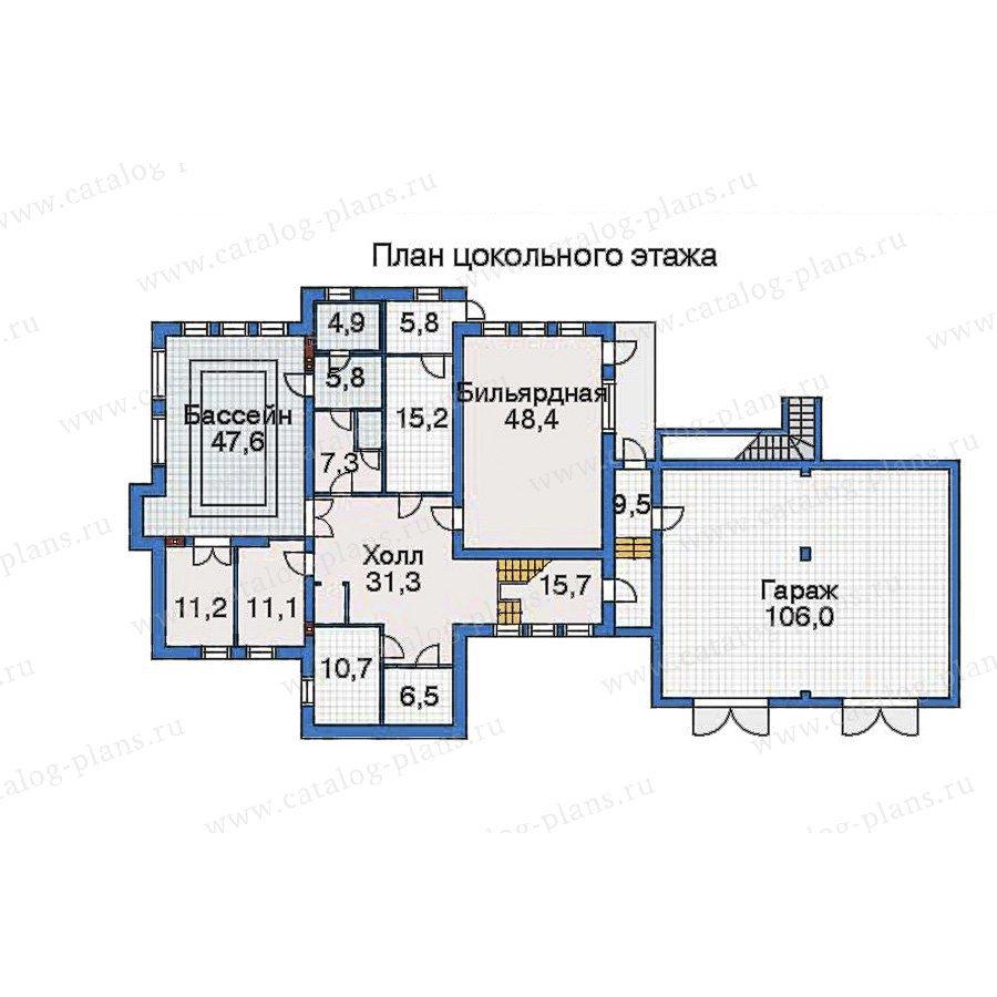 План 1-этажа проекта 32-46