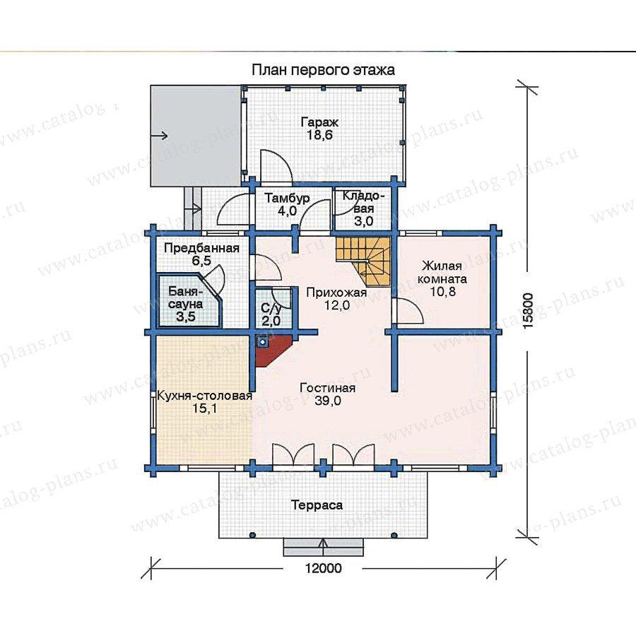План 1-этажа проекта 11-52