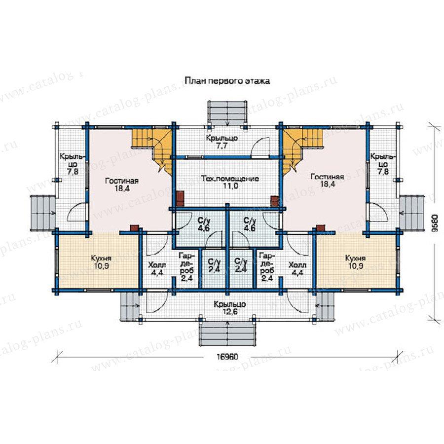 План 1-этажа проекта 12-32
