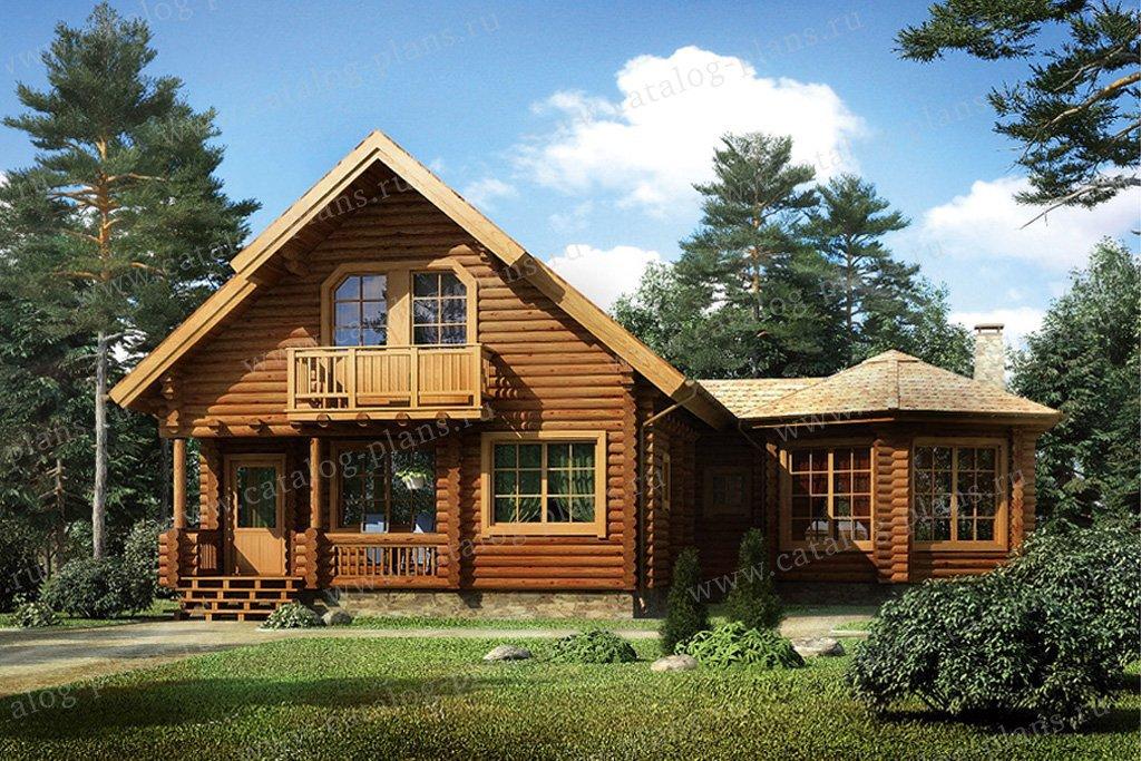Проект жилой дом #11-01 материал - дерево, стиль скандинавский