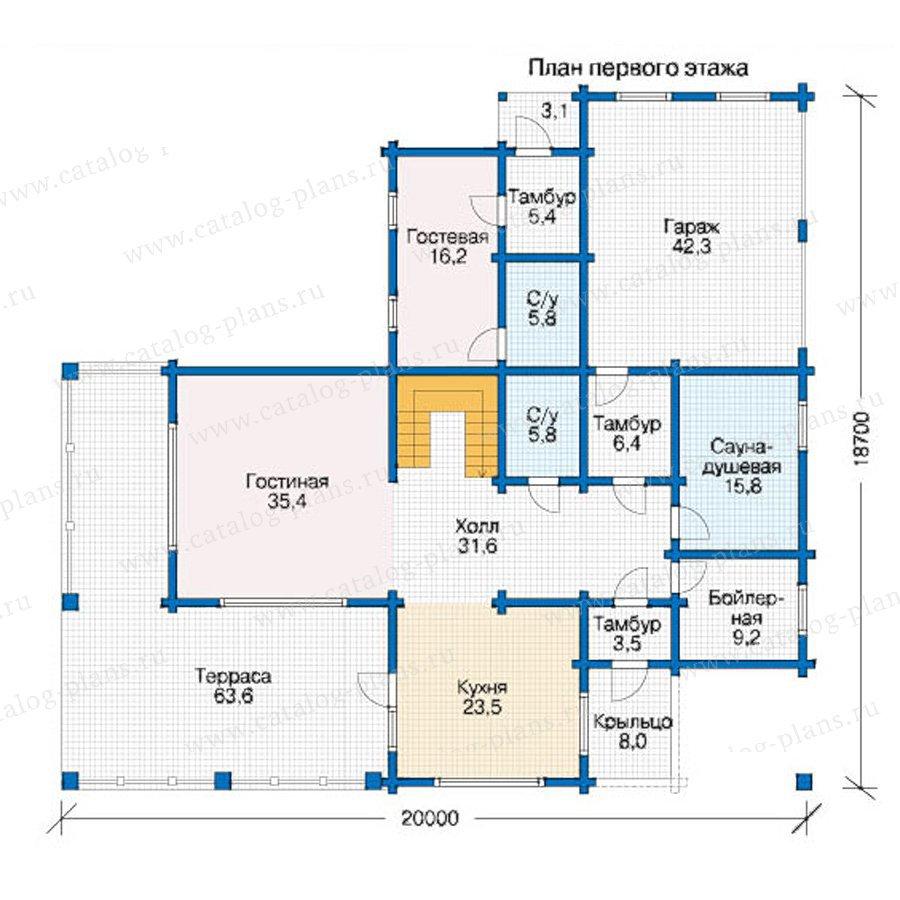 План 1-этажа проекта 12-50