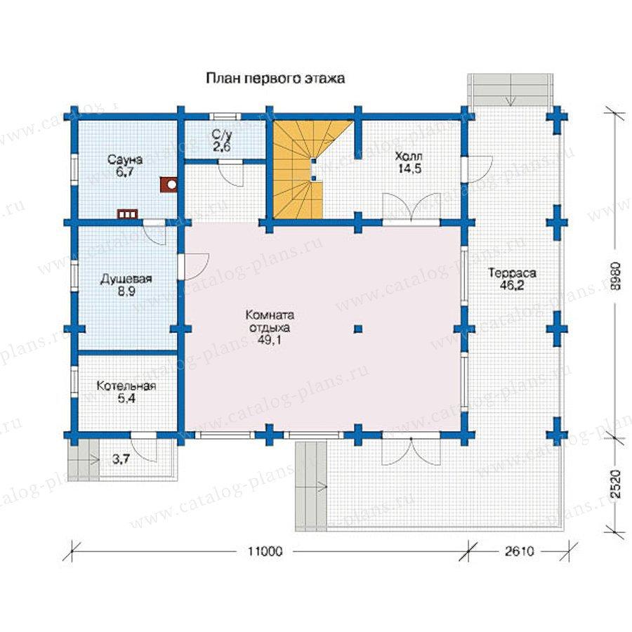 План 1-этажа проекта 12-58