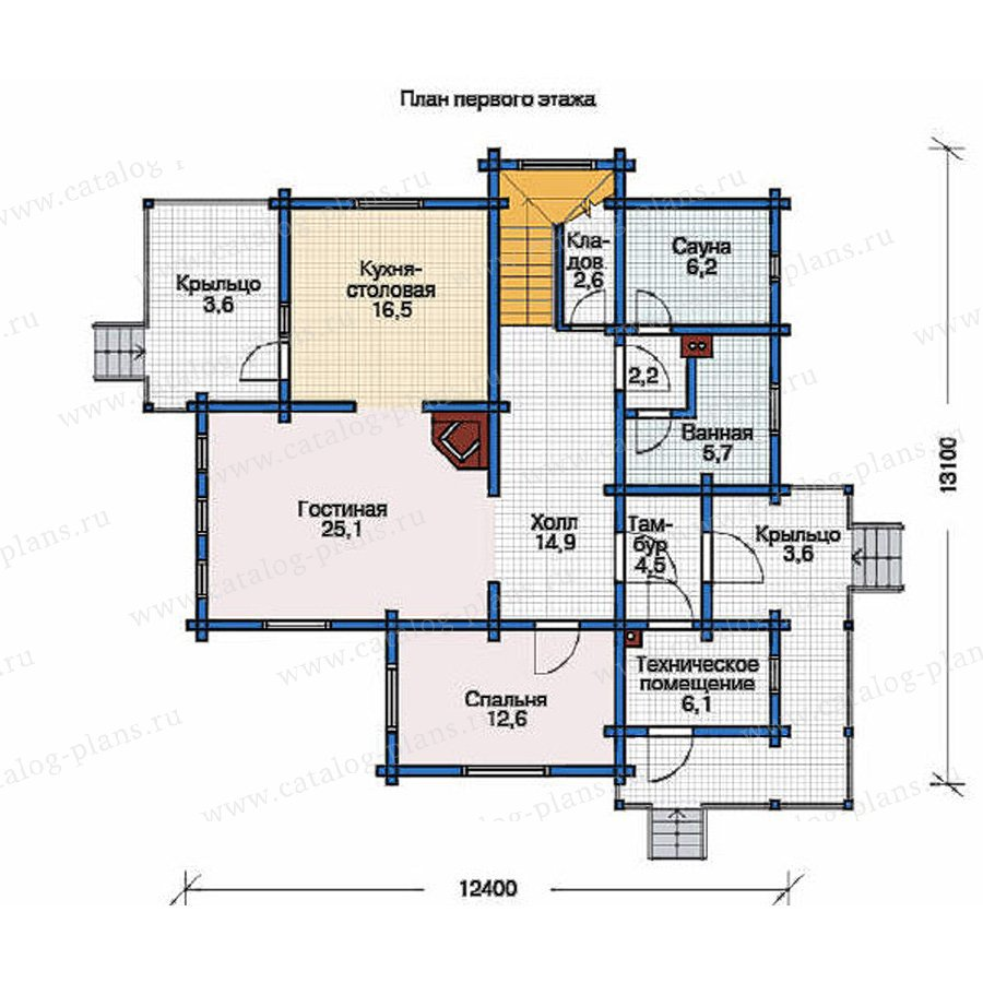 План 1-этажа проекта 11-80