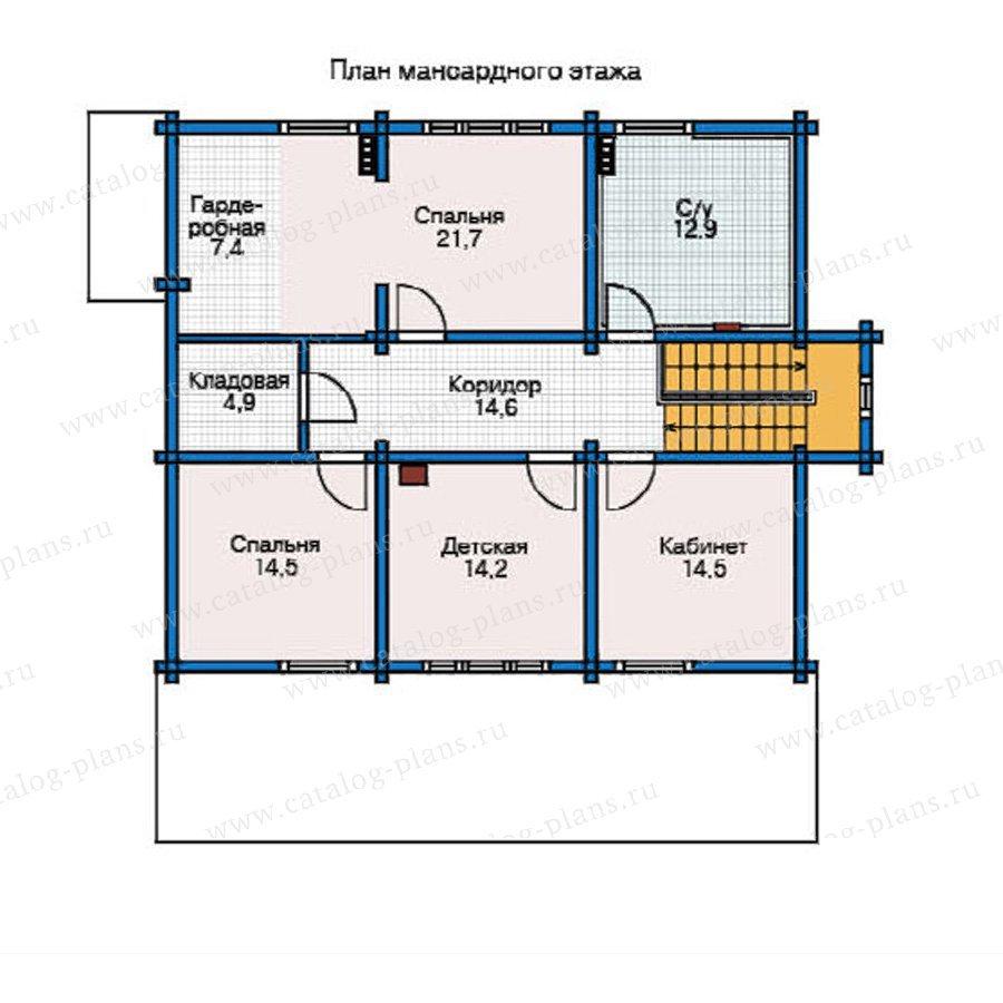 План 2-этажа проекта 12-24