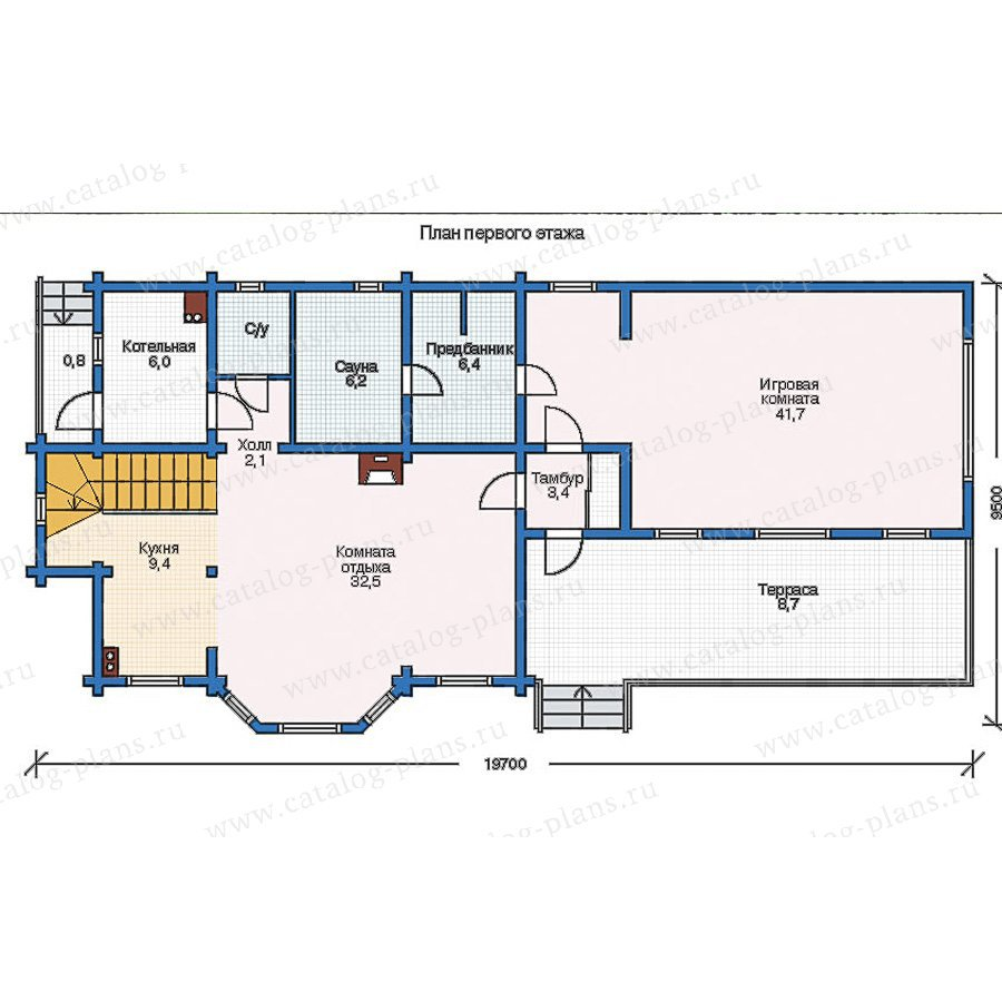 План 1-этажа проекта 11-32