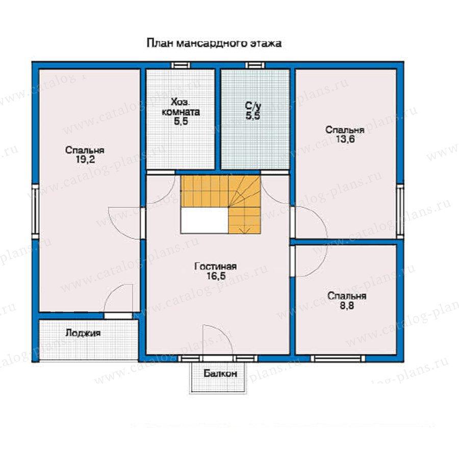 План 2-этажа проекта 12-29