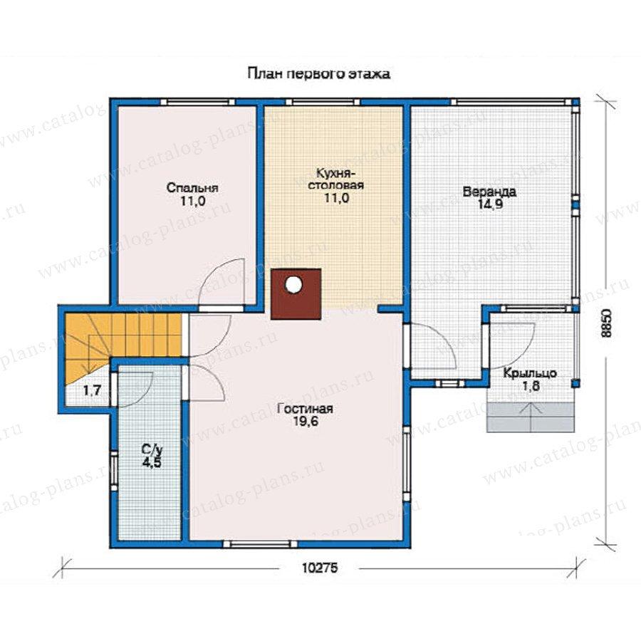 План 1-этажа проекта 12-26