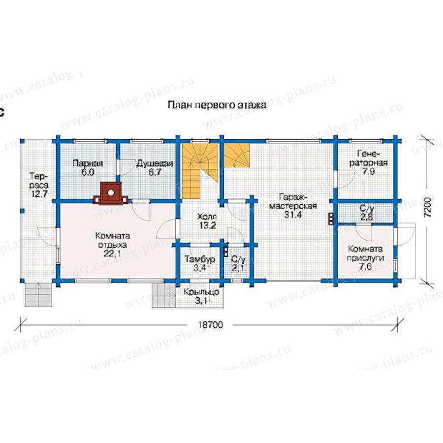 План 1-этажа проекта 12-41