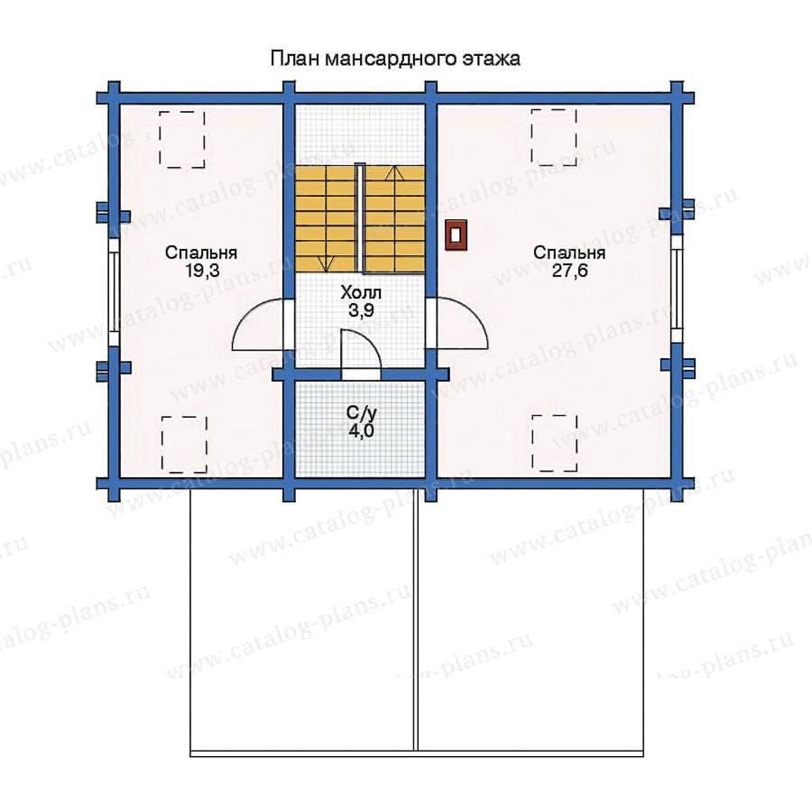 План 2-этажа проекта 11-24