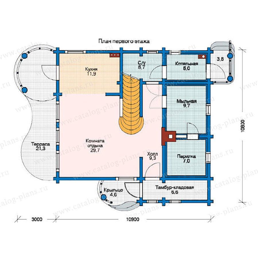 План 1-этажа проекта 11-18