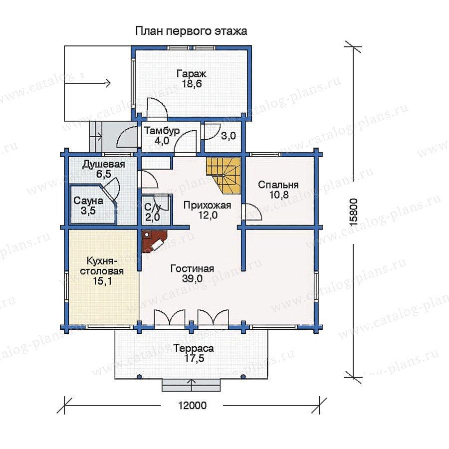 План 1-этажа проекта 11-08
