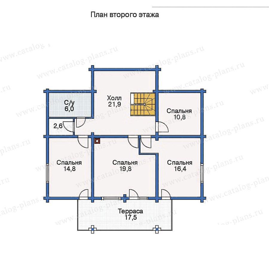 План 2-этажа проекта 11-08