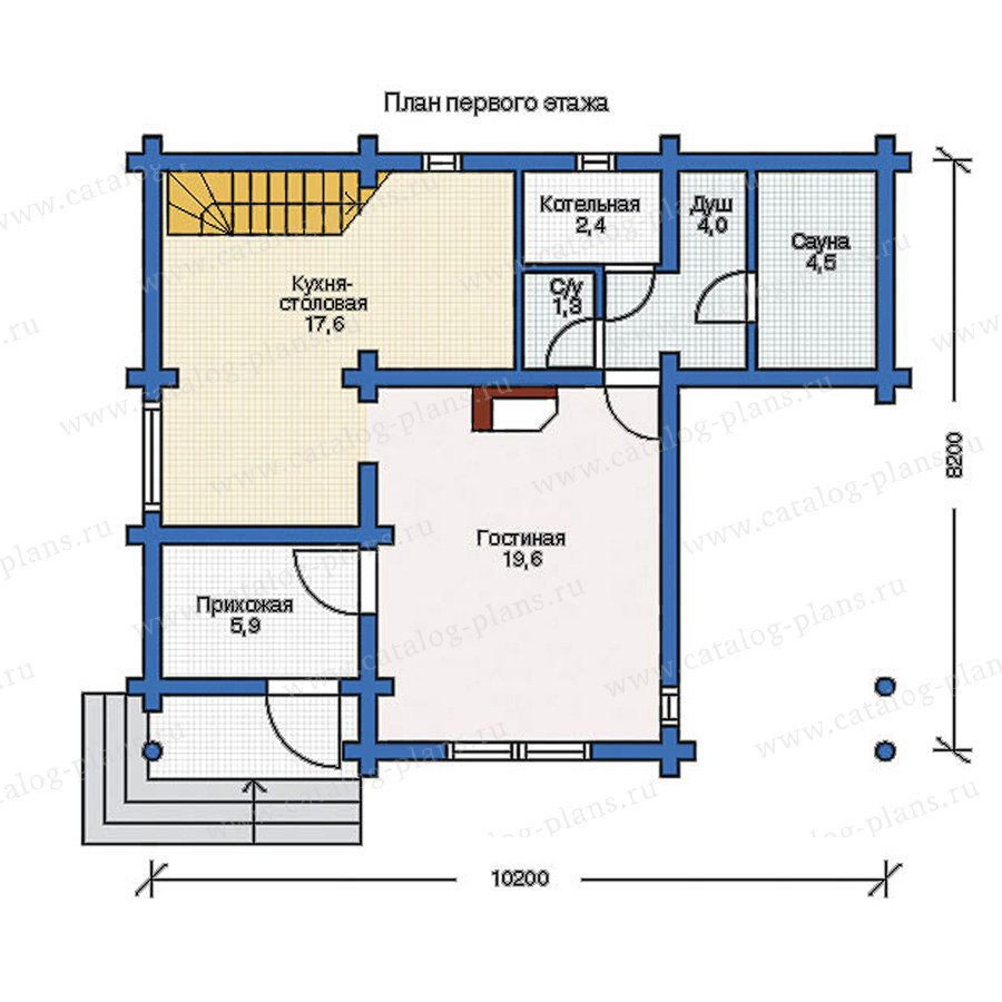 План 1-этажа проекта 12-30