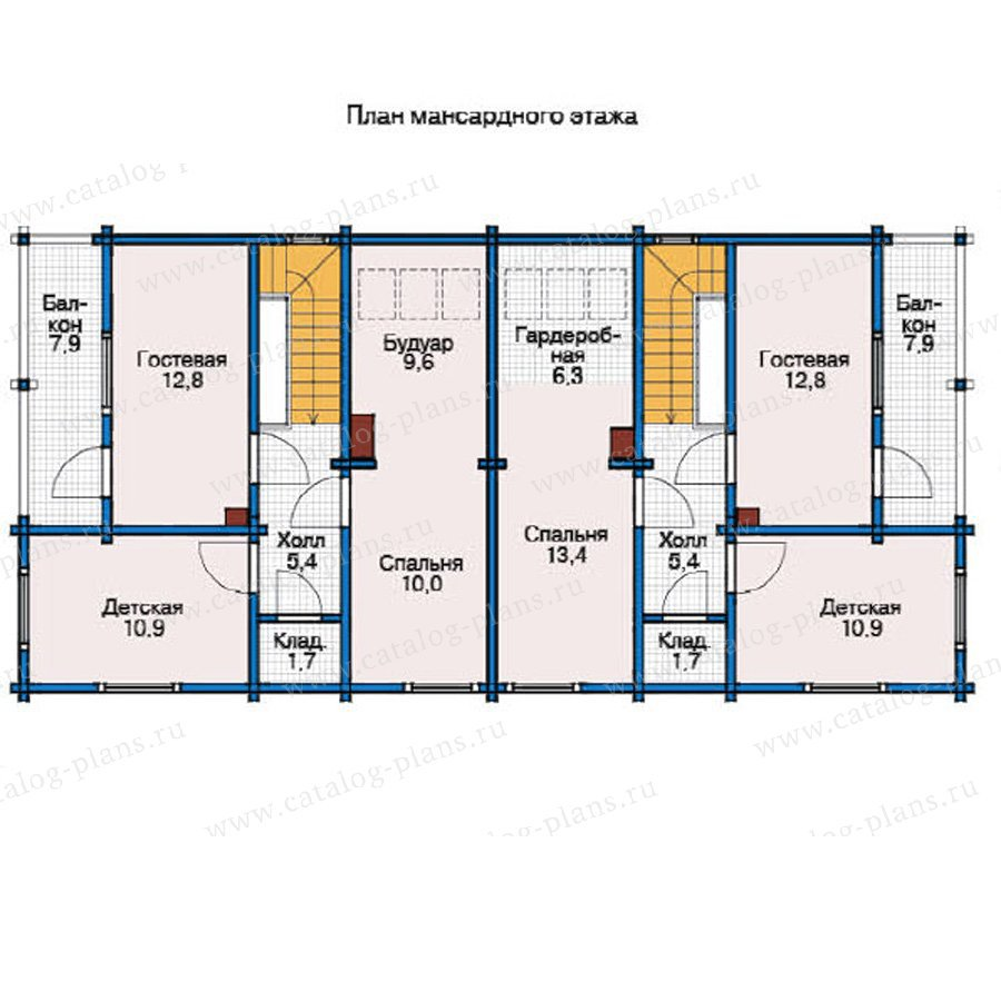 План 2-этажа проекта 12-32