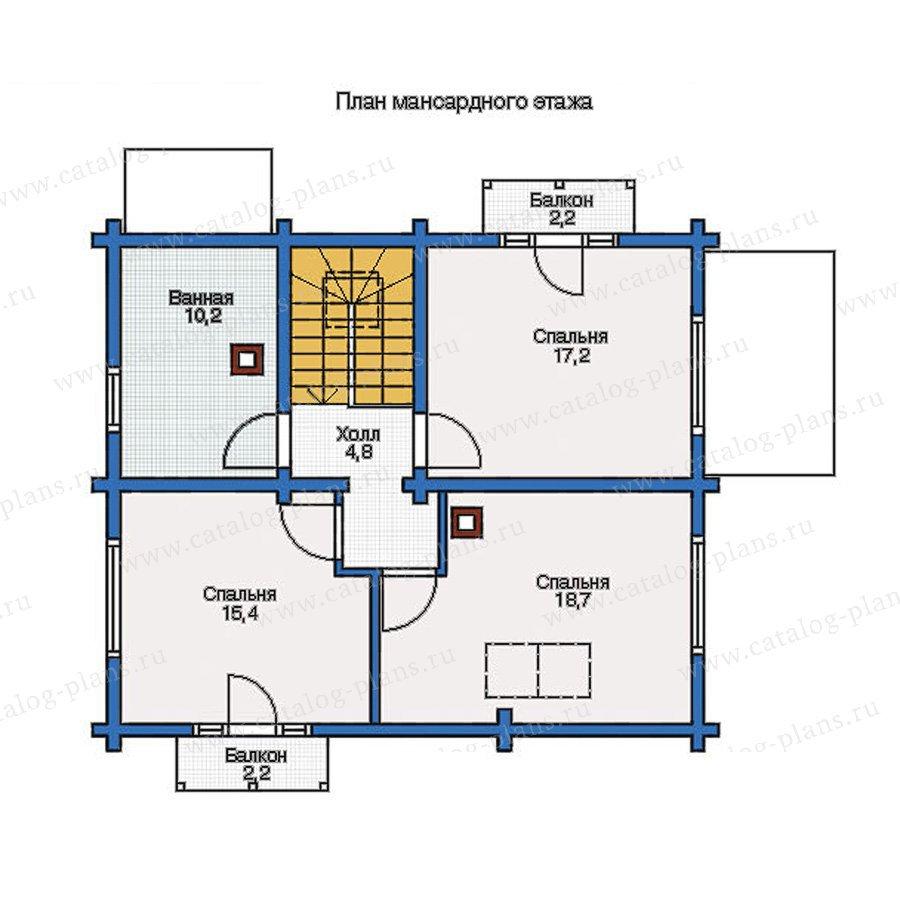 План 2-этажа проекта 11-87