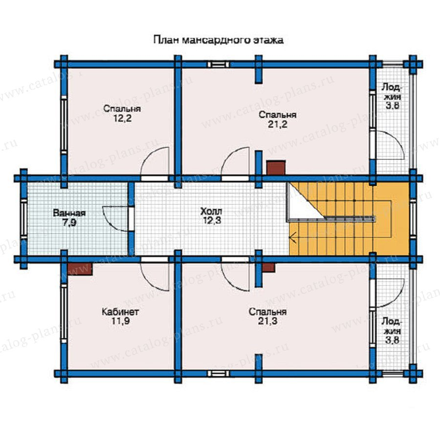 План 2-этажа проекта 12-34