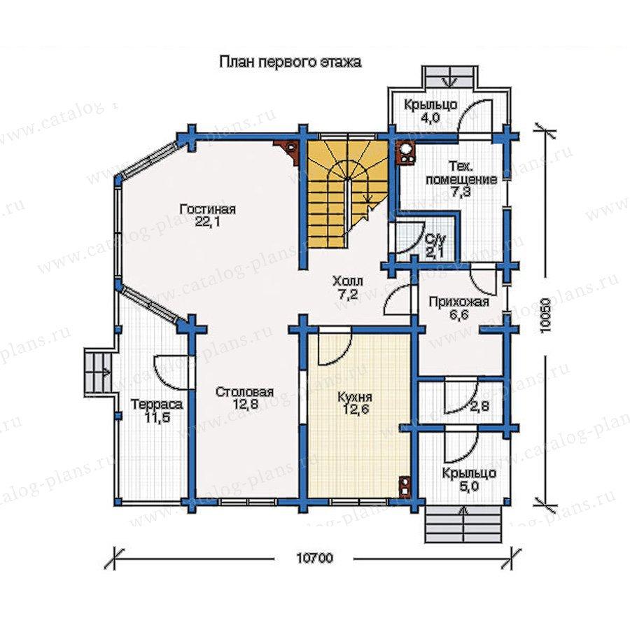 План 1-этажа проекта 11-12