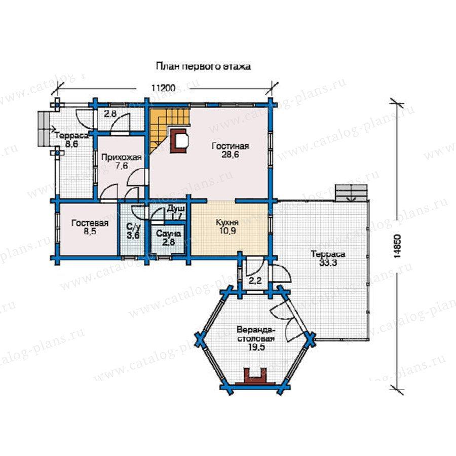План 1-этажа проекта 11-01