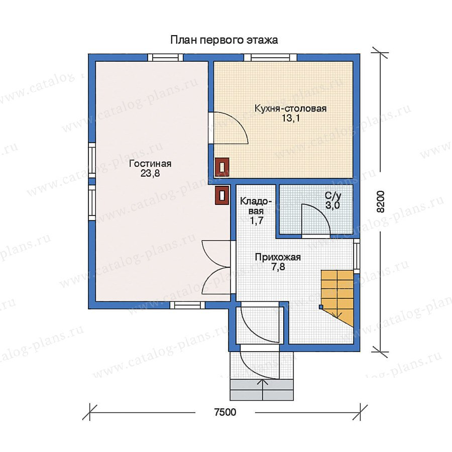План 1-этажа проекта 11-15