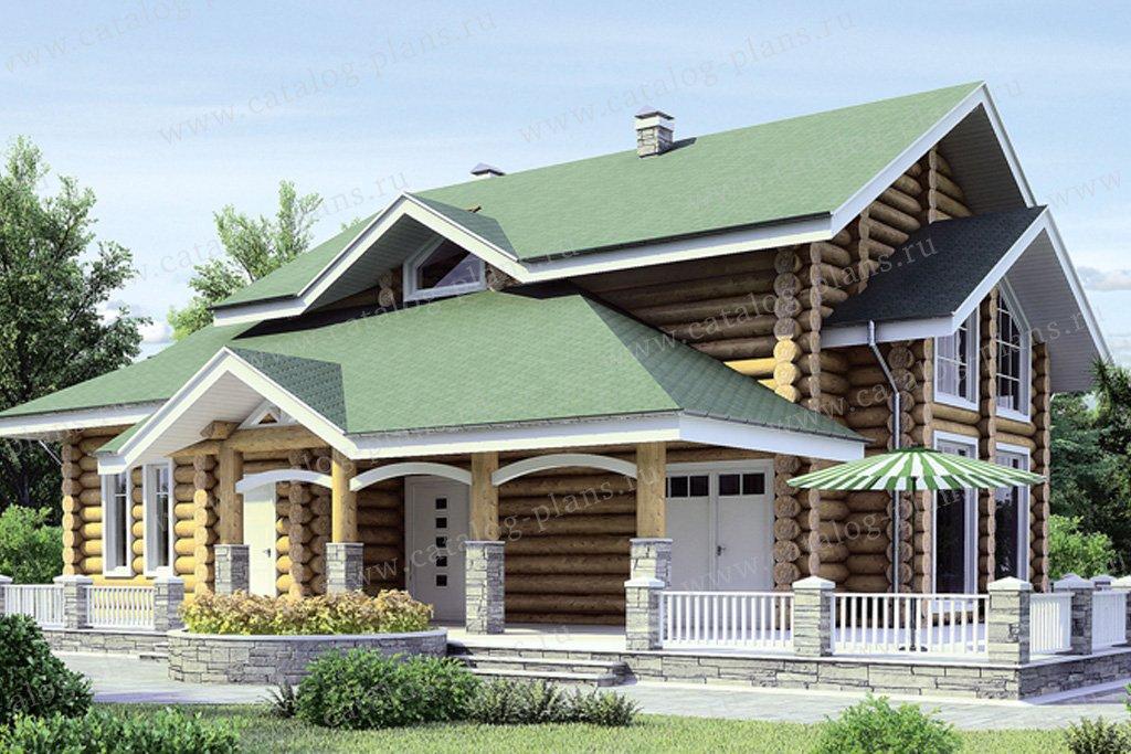 Проект жилой дом #11-16 материал - дерево, стиль скандинавский