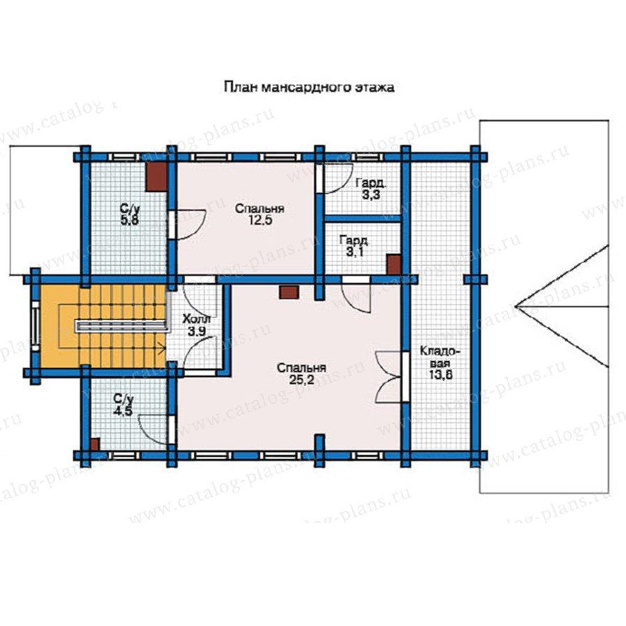 План 2-этажа проекта 12-33