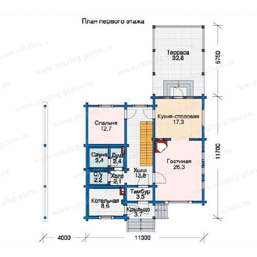 План 1-этажа проекта 11-21