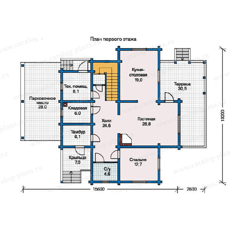 План 1-этажа проекта 11-10